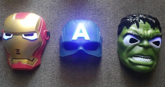 Mascaras Avengers Con Led Capitán América Hulk Ironman
