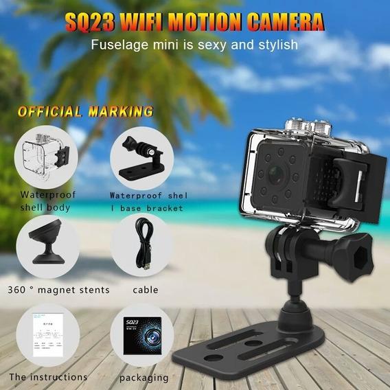 Mini Filmadora Sq23 1080p Wi Fi A Prova D