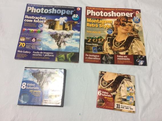 Photoshop Lote Com 2 Revista Acompanha Junto Vídeo Cd Rom