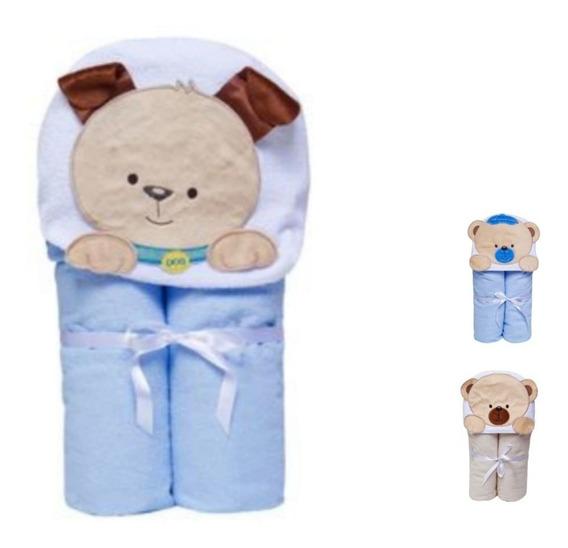 Toalha Banho Bebê Para Meninos C/ Capuz Várias Estampas Luxo