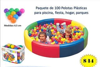 Paquete De 100 Pelotas Plásticas Para Piscina, Fiestas, Casa