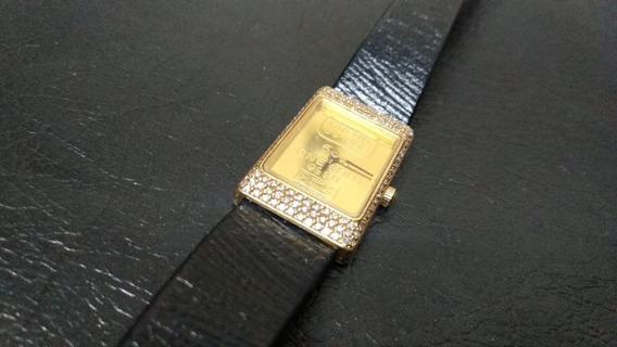 Relogio Bucherer 5g Gold Bar Credit Suisse C/ 118 Brilhantes