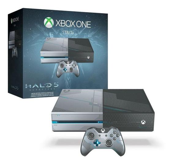 Console Xbox One 1tb Edição Halo 5 Guardians Microsoft
