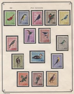 Serie Estampillas De Venezuela 1962 Fauna Nuevas
