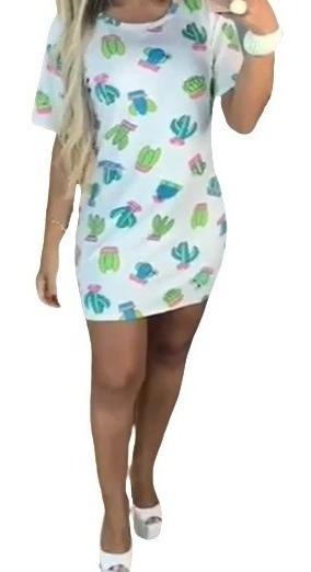 Blusão Cacto Camisão Feminino Vestido