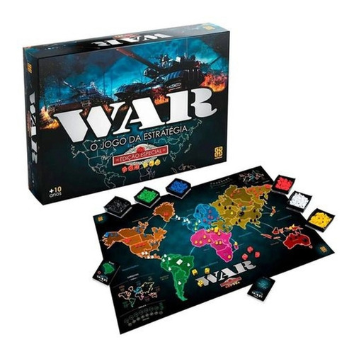 Jogo War Edição Especial (última Versão Caixa Nova) - Grow