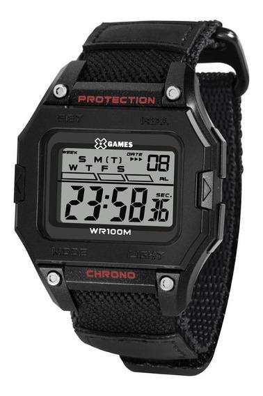 Relógio Masculino Preto Digital Quadrado Pulseira Nylon+nf