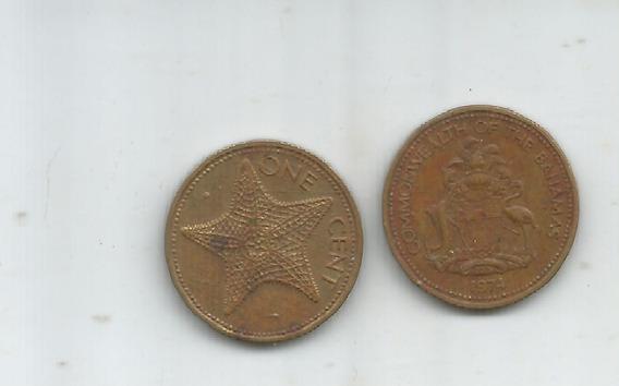 M 12086 Bahamas Lote 2 Monedas Un Centavo
