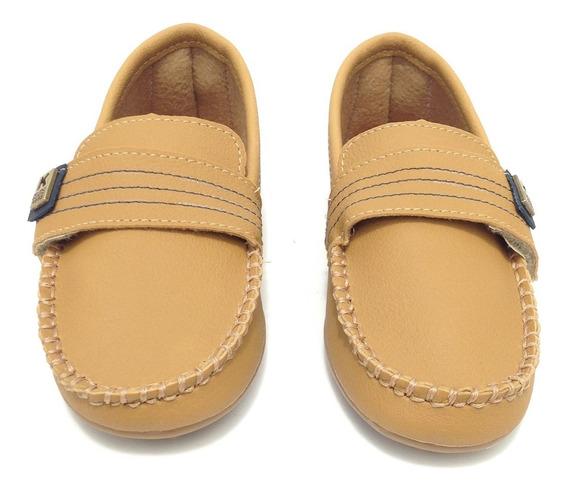 Sapato Masculino Infantil Mocassim Cor Amarelo Mostarda