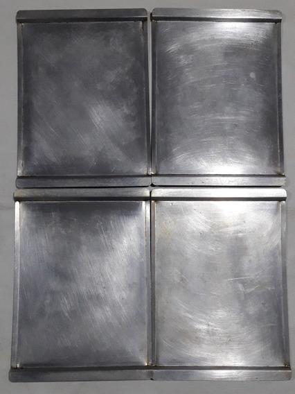 Lote X 4 Bandeja Placa Aluminio 44x32 Cms .