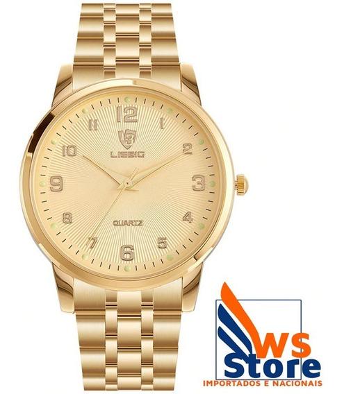 Relógio De Luxo Unisex Dourado