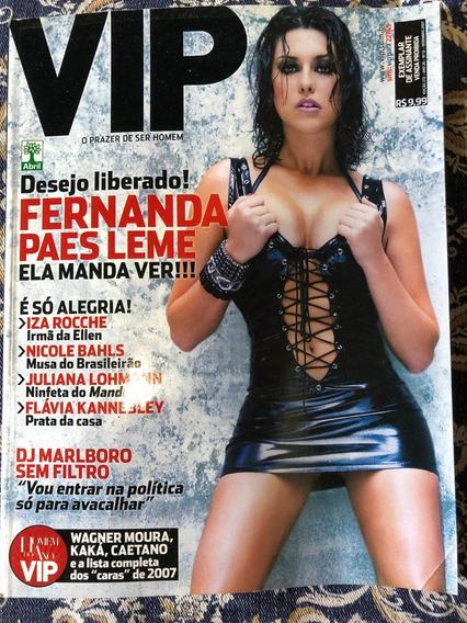 Revista Vip Ed 272 Ano 26 Nº 12 Dez 2007 Fernanda Paes Leme