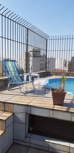 Imagem 1 de 30 de Cobertura Com 3 Dormitórios À Venda, 230 M² Por R$ 2.400.000 - Vila Mariana - Prop Starter Adm. Imóves - Co0016
