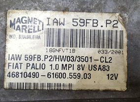 Modulo De Injeção Fiat Palio/siena 1.0 46810490 59fb.p2