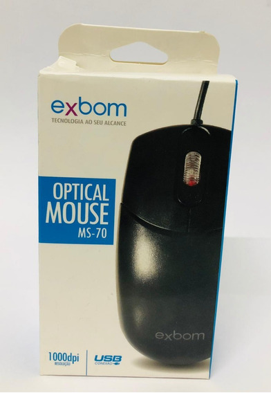 Mouse Usb Exbom Ms-50 Optico 1000dpi