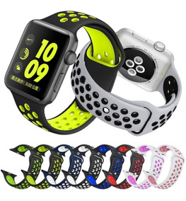 Kit 2 Pulseira Apple Watch 38mm 40mm 42mm 44mm Nike Silicone