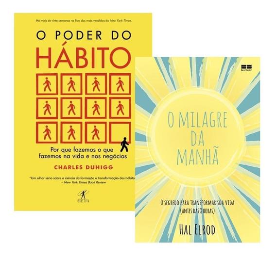 Kit Livros O Milagre Da Manhã + O Poder Do Habito - Promoção