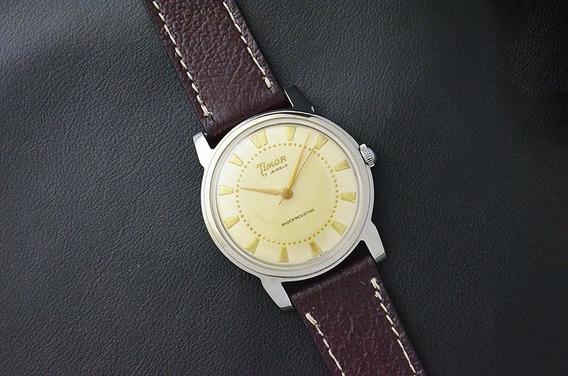 Vintage Timor Watch - Corda Manual - 17j - Um Clássico