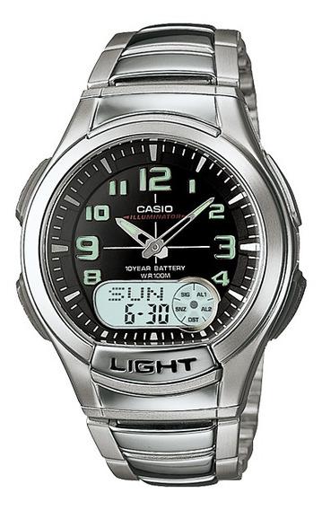 Relógio Casio Standard Masculino Preto Aq-180wd-1bvdf