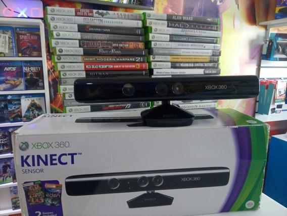 Sensor Kinect Para Xbox 360 Original Com 2 Jogos Originais.
