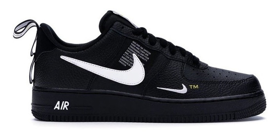 Tenis Air Force 1 Black Off White Low 0ff Hype + Brinde