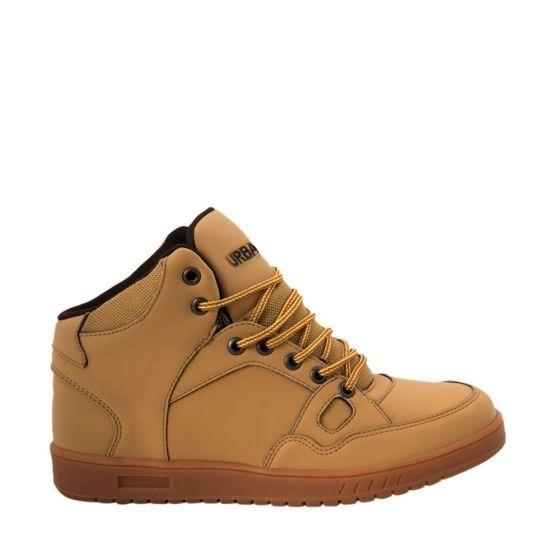 Tenis Tipo Bota Urban Shoes Mostaza 160600 Urbano 2-18 A