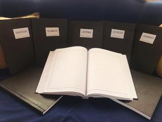 Juego De 5 Libros Contables 100 Folios Alta Calidad Bond 20