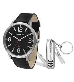 Relógio Masculino Preto Lince Mrc4540l Kv78p2px