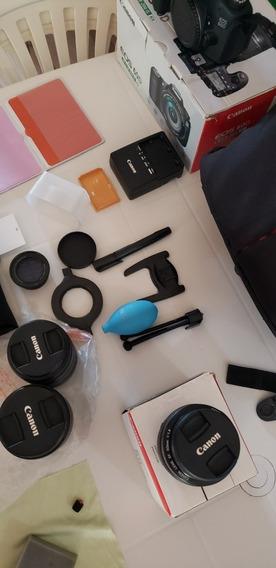 Câmera Canon Eos 60d Com Lentes E Kits Completo.