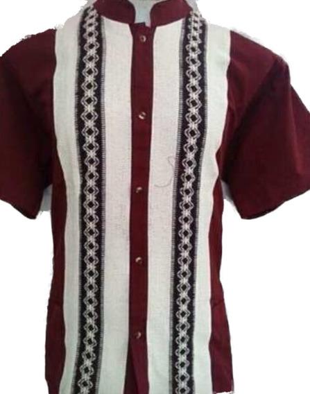 Camisa Guayabera Cuello Mao
