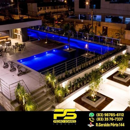 ( O P O R T U N I D A D E ) Cobertura De Luxo Com 3 Dormitórios À Venda, 252 M² Por R$ 1.745.000 - Manaíra - João Pessoa/pb - Ap1849