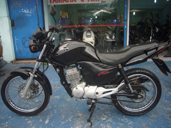Honda Cg 150 Fan Esdi Preta Ano 2013 R$ 6.999 Troca