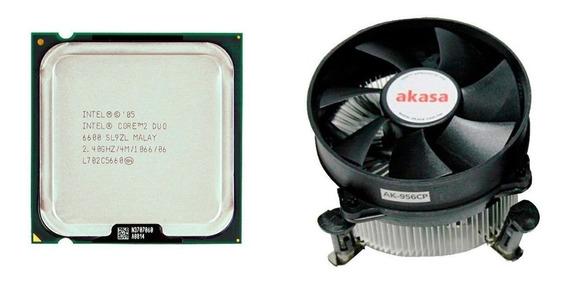 Processador Core 2 Duo E6600 2,4ghz Lga775 + Cooler Akasa