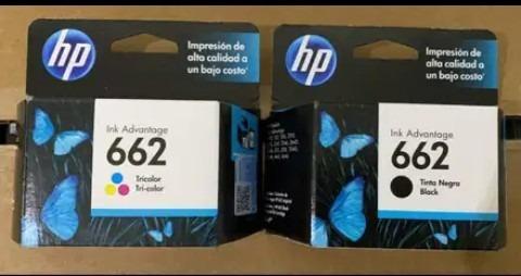 Cartuchos Hp 662 Negro Y Color  Originales 100% Verificables