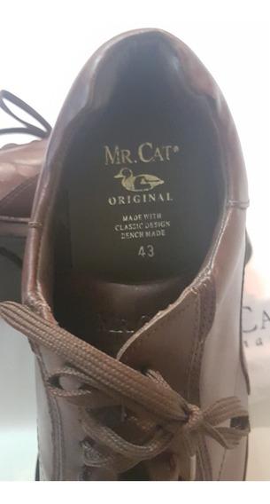 Sapato Mr. Cat, Couro, Modelo Confort Tam. 43