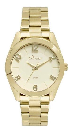Relógio Fem Dourado Condor Co2039aj/4d