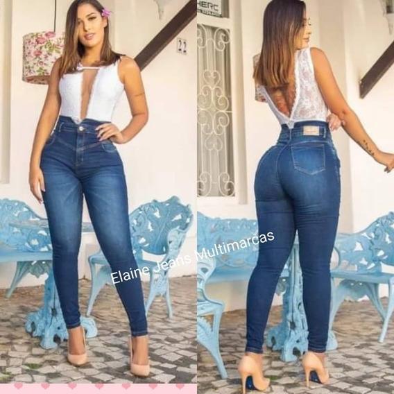 Calça Consciencia Jeans Cintura Alta Hot Pants Modeladora