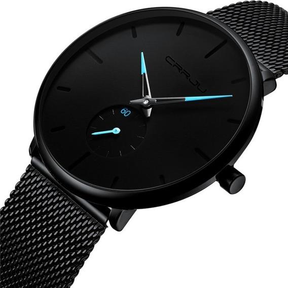 Relógio Masculino Casual Luxo Ultra Fino Esportivo Metálico