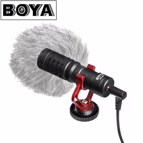 Imagen 1 de 7 de Microfono Boya By-mm1 Para Camara O Cel Tipo Rode Videomicro