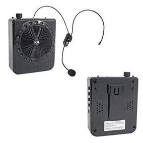 Megafone Portatil Amplificador Kit Professor Com Radio Fm, M