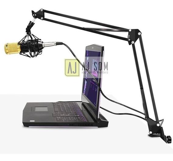 Pedestal Articulado,haste Flexível P/microfone,estúdio,rádio