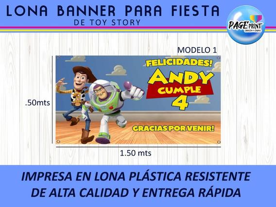 Lona Impresa Para Fiesta Decorativa De Toy Story