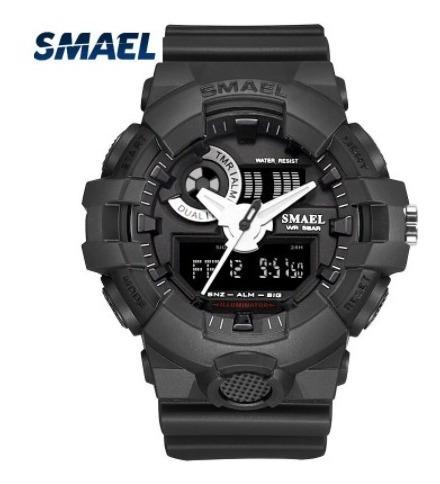Relógio Masculino Smael 1642 Esportivo Digital Preto Shock