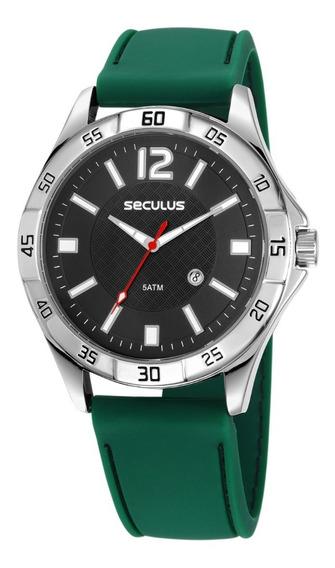 Relógio Masculino Seculus Prata + Garantia + Nf