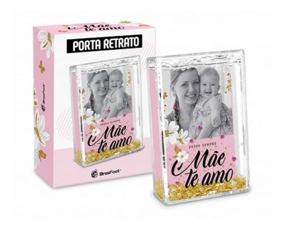 Porta Retrato Água Mãe Te Amo - Foto Mamãe Presente