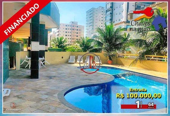 Apartamento Com 1 Dormitório À Venda, 64 M² Por R$ 210.000,00 - Tupi - Praia Grande/sp - Ap1798