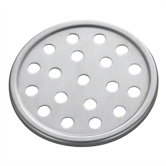 Grelha Ralo Redondo Banheiro Meber 15cm Aço Inox Cromada