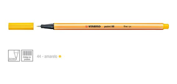 Caneta Hidrográfica Escolar Stabilo 0.4mm 1 Unidade Amarelo