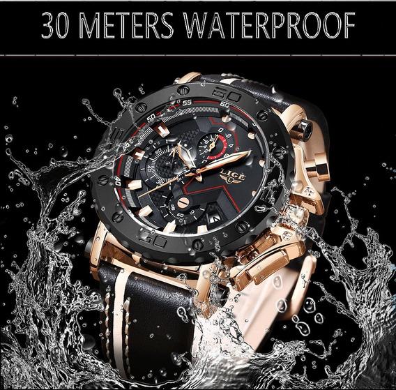 Relógio Masculino Lige 9899 Original Luxo 100% Funcional