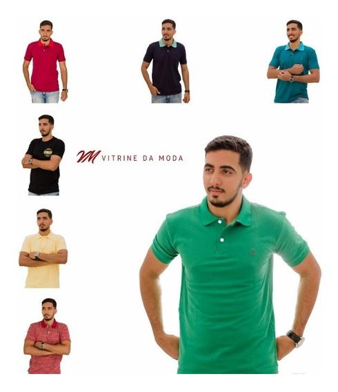 Kit Atacado 10 Camisetas Polo Tolentex Cor Variada Promoção